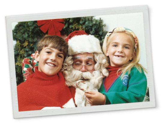 Children enjoy a visit with Santa Claus at Bon Air circa 1987.
