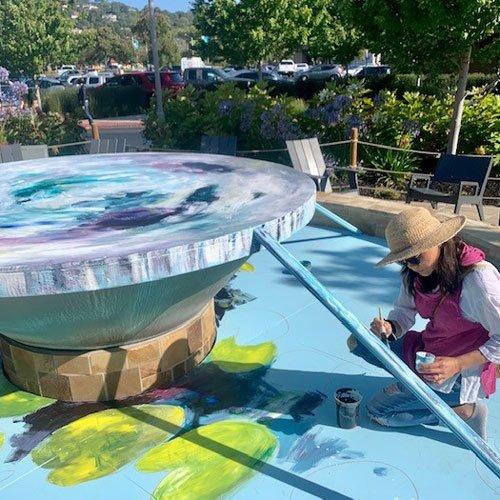 PUBLIC ART INSTALLATION On Bon Air Water Features